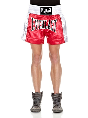 Everlast EM6 - Pantalón de Thai Boxing Unisex, Color Rojo, Talla M