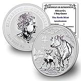 2021 AU 1 oz Silver Australian Lunar Ox Coin...