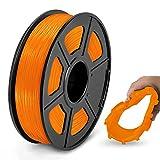 JAYO de SUNLU TPU Flexible Filament 1.75mm, Impresora 3D TPU Shore 95A, 500g TPU Naranja, Precisión...