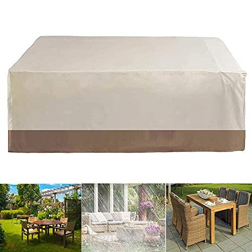 Funda para Muebles de Jardín, Impermeable Funda Protectoras Muebles de Jardín Anti-UV a Prueba de Viento Resistente al Polvo, Resistente al Polvo para Sofa de Jardin, al Aire Libre, Mesa y Sillas