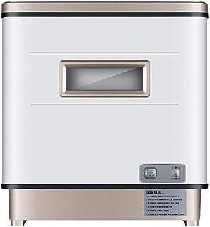 DWLXSH Encimera Lavavajillas - Lavavajillas Mini portátil en el Interior de Acero Inoxidable for los Pequeño Apartamento Oficina y Hogar Cocina con 6 Coloque la Rejilla del Ajuste