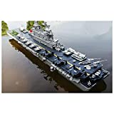AAAHHH RC 2.4G Large Remote Control Boat Warship Electric Boat Model Aircraft Carrier Child Boy Toy Speed Boat Remote Control Ship Super Large Aircraft Carrier, Destroyer, Battleship, Frigate