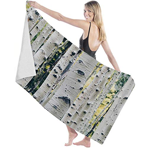 shenguang Toalla de baño Soft Bath Towel Birch Tree Branches Absorbent Quick Dry Bath Sheet Towel Nature Forest Premium Quality Durable Shower Towel for Hotel Bathroom Dorm Club