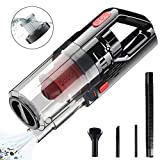 AUSDINAUTO Cordless Car Vacuum Cleaner, 150W 7000PA Handheld Vacuum Cleaner for Car Strong Power Suction Wet/Dry Car Hoover HEPA Filter, Brush, Long Hose, Extension Tube, Crevice Tube