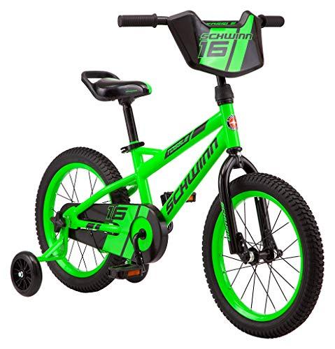 Schwinn Toggle Quick Build Kids Bike, 16-Inch Wheels, Smart Start Steel Frame, Easy Tool-Free Assembly, Green