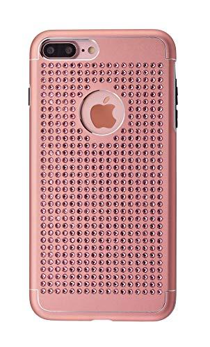iShield® for iPhone con Crystals from Swarovski® Lujo (iPhone 8 Plus/7 Plus -500 Pieza Cristales, Rosa)