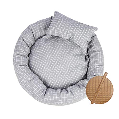 WANK Cat Bed Round Dog Bed for Cats, Kittens, Puppies and Small Dogs Ultra Soft Breathable Pet Tent Self-Warming Cat Igloo Hut