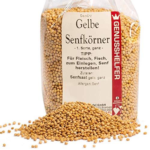 Bremer Gewürzhandel - Gelbe Senfkörner 150 Gramm ganz - leichte Schärfe - Senfsaat zur Herstellung von Senf - ohne Zusatzstoffe