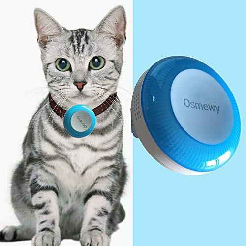 Osmewy Mini Cat GPS Tracker Dog Tracking Device Pet Tracker for Dogs Cats GPS Locator Light Search Anti-Lost Geo Fence Historical Route Real Time Alarm Online Remote Control Free APP GT025