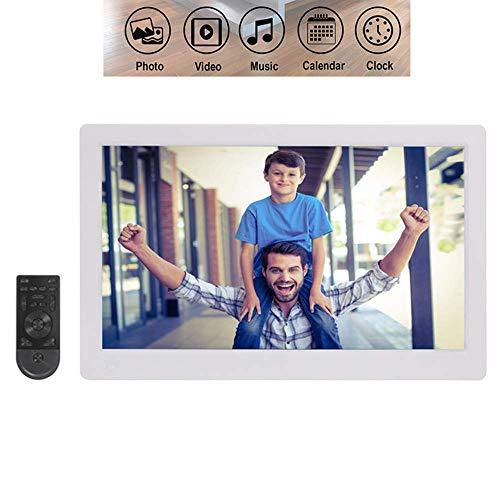 Mengen88 15,6 inch digitale fotolijst met IPS-display, iPhone en Android App, High Definition 1920 x 1080, HD LED-beeld, video-lijst met bewegingsmelder