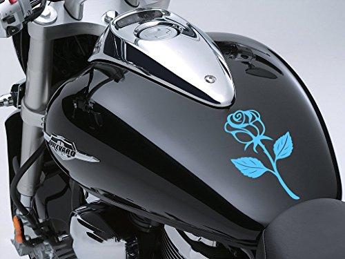 Rose Sticker Moto Réservoir à carburant voiture en 100 mm x 170 mm – Bleu pâle rose