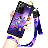 Cartoon Case for Samsung Galaxy Note 20 Ultra 5G Case 6.9 Inch Cute Eeyore Donkey Cartoon Character Design with Lanyard Wrist Strap Band Holder Shockproof Protection Bumper Kickstand Cover