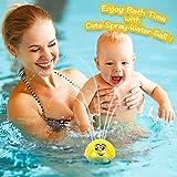 BRAND SET Juguete de baño para bebés Juguete de Agua de rociadores Diversión a la Hora del baño Puede Jugar en el Agua y Jugar en el Suelo con música y luz Intermitente(Bola Amarilla)