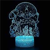 3D Illusion Lampe Nachtlicht Totoro B Nachtlicht 3D Mood Night...