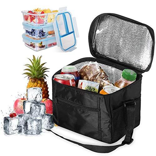Picknick-Kühltasche, isolierte weiche Kühltasche, faltbare Picknick-Kühltasche, wiederverwendbare Lebensmitteltasche, Picknick-Tasche, Kühltasche für Camping, Grillen(schwarz)