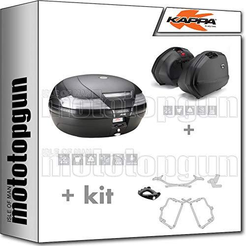 kappa maleta k49nt + maletas laterales k33n + portaequipaje monokey + portamaletas lateral k33 monokey side compatible con honda nc 750 s 2020 20