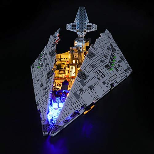 LED-belysningskit för Lego 75190 Star Wars avsnitt VIII första beställningen Star Destroyer byggstensmodell (inkluderar inte lego-modell)