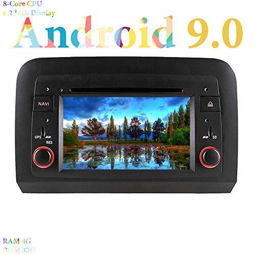 XISEDO 6.2' Android 9.0 Autoradio 8 Core RAM 4G ROM 32G Navigazione GPS Car Stereo In-dash Car Radio per Fiat Croma (2005-2012) (Autoradio)