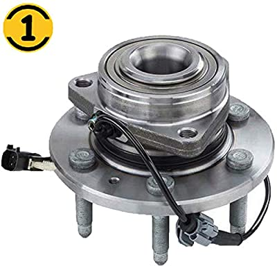 (4WD) Front Wheel Bearing Hub Assembly Fit Chevrolet Tahoe;Silverado; Suburban, GMC Sierra 1500; Yukon; Yukon XL, Cadillac XTS; Escalade Hub Bearing 6 Lugs w/ABS, 4x4, Replace 515160