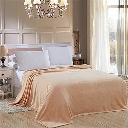 RONGXIE Fleecedeken, eenkleurig, lente, warme herfst, zachte koningin, deken op slaapbank, vliegtuig, reizen, plaids patchwork, home camping beddengoed 200x230cm Style3.