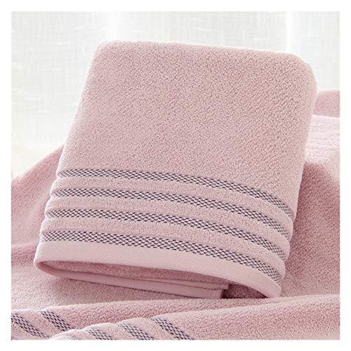 HNGM Toallas de baño Toallas de baño de algodón a Rayas Toallas de baño engrosadas de Color sólido Son Suaves y cómodas para Hombres y Mujeres (Color : Purple Powder, Size : 70x140)