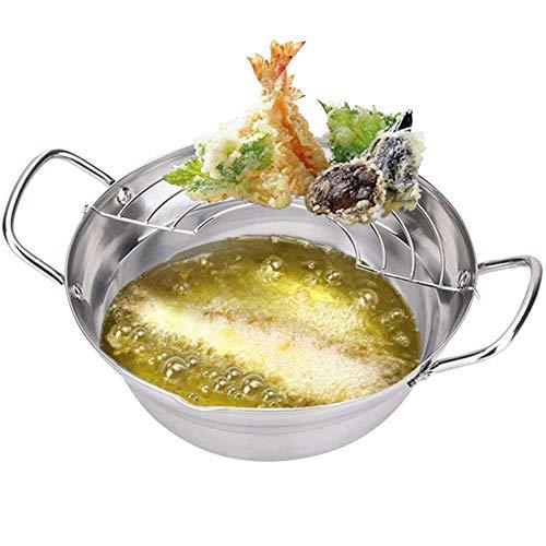 FairOnly RVS Friteuse Pot met Drainer Filter Huishoudelijke Kookgerei Keukengerei