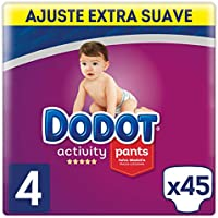 Dodot Activity - Pants Pañal-Braguita Talla 4, Fácil de Cambiar con Canales de Aire, 45 Pañales, 9 a 15 kg
