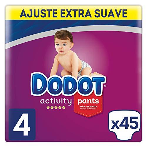 Dodot Activity – Pants Pants – Slip taglia 4, facile da cambiare con canali d'aria, 45 pannolini, da 9 a 15 kg