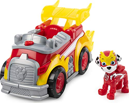 PAW Patrol PAW Patrol Mighty Pups Super Paws Feuerwehrauto mit Marshall-Figur (Basic Themed Vehicle)