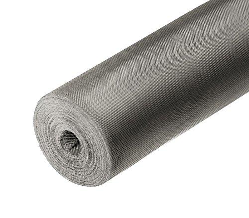 ONPIRA Fliegennetz Meterware aus Eisen Verzinkt/Aluminium/Edelstahl 0,8m / 1m /1,2m (1,2m / Edelstahl V4A)