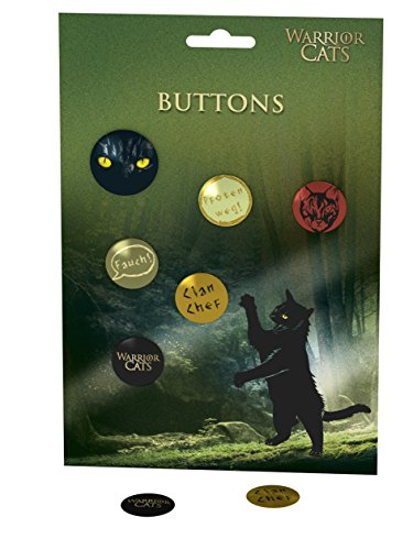 Warrior Cats – Buttons: 5x klein, 1x groß