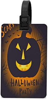HOOSUNFlagrbfa Pumpkins Winter Holiday Halloween Luggage Tag PVC Business Card Holder for Name Address ID Label Travel