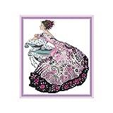 Lamdoo Kits de Points de Croix comptés 14CT,Point de Croix modèle kit de Couture à la Main Bricolage...