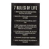 7 Reglas de la Vida Cartas Cartel de motivación Cita Inspirada Arte de la Pared de la Oficina Aula Inicio Decoración 30 * 45cm