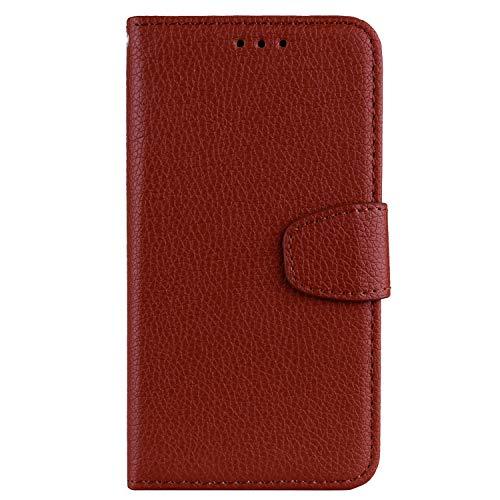Sunrive Hülle Für HTC Desire 530/630, Magnetisch Schaltfläche Ledertasche Schutzhülle Hülle Handyhülle Schalen Handy Tasche Lederhülle(025 Braun)+Gratis Universal Eingabestift
