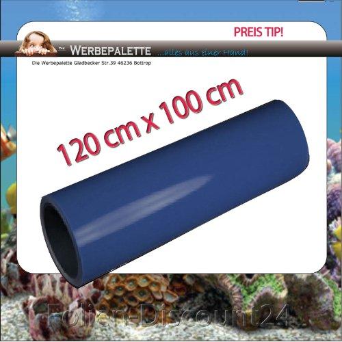 (EUR 5,75 / vierkante meter) Aquarium Terrarium achterwand folie DEEP BLUE 120 cm x 100 cm TOP ! Prijs