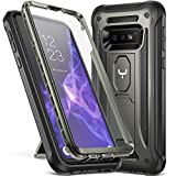 YOUMAKER Case for Galaxy S10e, Kickstand Case with Built-in Screen Protector Heavy Duty Protection Shockproof Full Body Slim Fit Cover for Samsung Galaxy S10e 5.8 inch (2019) - Gun Metal