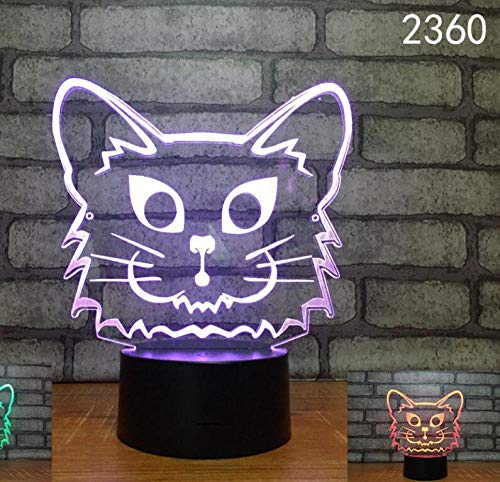 ZSSYD Luz Nocturna Infantil, 16 Colores Lampara Escritorio Lampara 3D