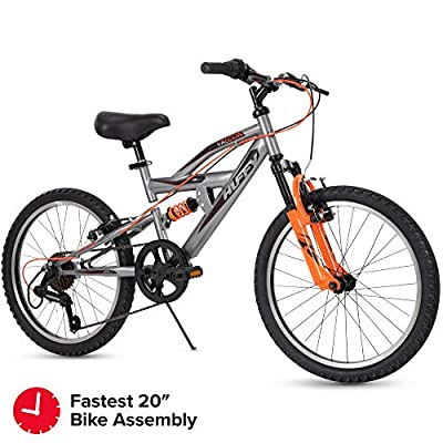 Huffy Kids Dual Suspension Mountain Bike, 20 inch, Quick Assembly Available