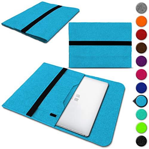 UC-Express Laptop Schutzhülle für Trekstor Surftab Theatre 13,3 aus Filz mit Innentaschen Sleeve Hülle Tasche Cover Notebook Hülle Tasche NAUCI, Farbe:Türkis