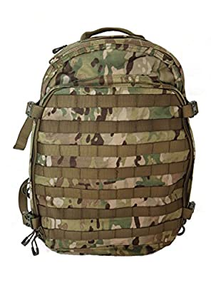 Hanks Surplus Military Style Molle Travel Hiking Camping Multi Day Backpack (Multicam)