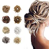 Fluffy Tousled Scrunchie Messy Hair Bun Extension With Elastic Rubber Band Wavy Scrunchy