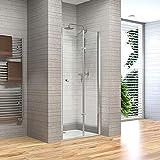Home Deluxe - Duschtür 130 x 195 cm - Andiamo V1 | Duschwand, Falttür Dusche, Duschkabine, Nischenfalttür