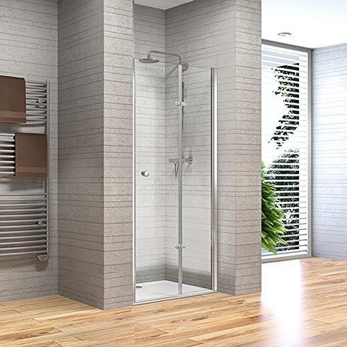 Home Deluxe - Duschtür 150 x 195 cm - Andiamo V1 | Duschwand, Falttür Dusche, Duschkabine, Nischenfalttür