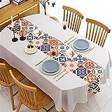 SUNFDD Olio E Tovaglia in PVC Impermeabile Tappetino da tè in Plastica Giapponese Tavolo da tè Tavolo da Pranzo Tavolo da Pranzo All'Aperto Tovaglia da Picnic PIC 140x140cm(WxH) B