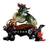 FGUD Figurine chi Lin/Kylin Prosperidad Riqueza afortunada Estatua Feng Shui hogar decoración atrae la Riqueza y la Buena Suerte Estatua