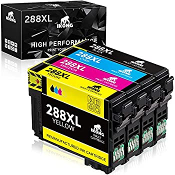 4-Pack Ikong Remanufactured Ink Cartridge Replacement for Epson