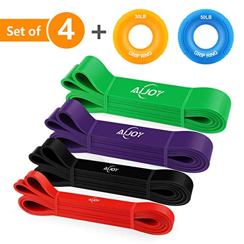 AiJoy Pull up Assist Bands Exercise Mobility Band Pull up Bands Set for Workout Stretch Powerlifting Resistance Training Set of 4