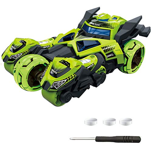 Neborn Auto zurückziehen elektrische Transformation Legierung Autos Modelle Batmobil Spielzeug Kinder 3 IN 1 Racing Motorcycly Katapult Fahrzeug Spielzeug für Jungen (Grün)