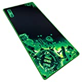 ENHANCE Extended Large Gaming Mouse Pad - XL Mouse Mat (31.5' x 13.75') Anti-Fray Stitching for Professional Esports with Low-Friction Tracking Surface and Non-Slip Backing - Green